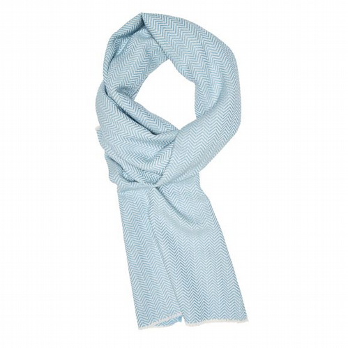 Yorkshire Wool Scarf - Sky Blue